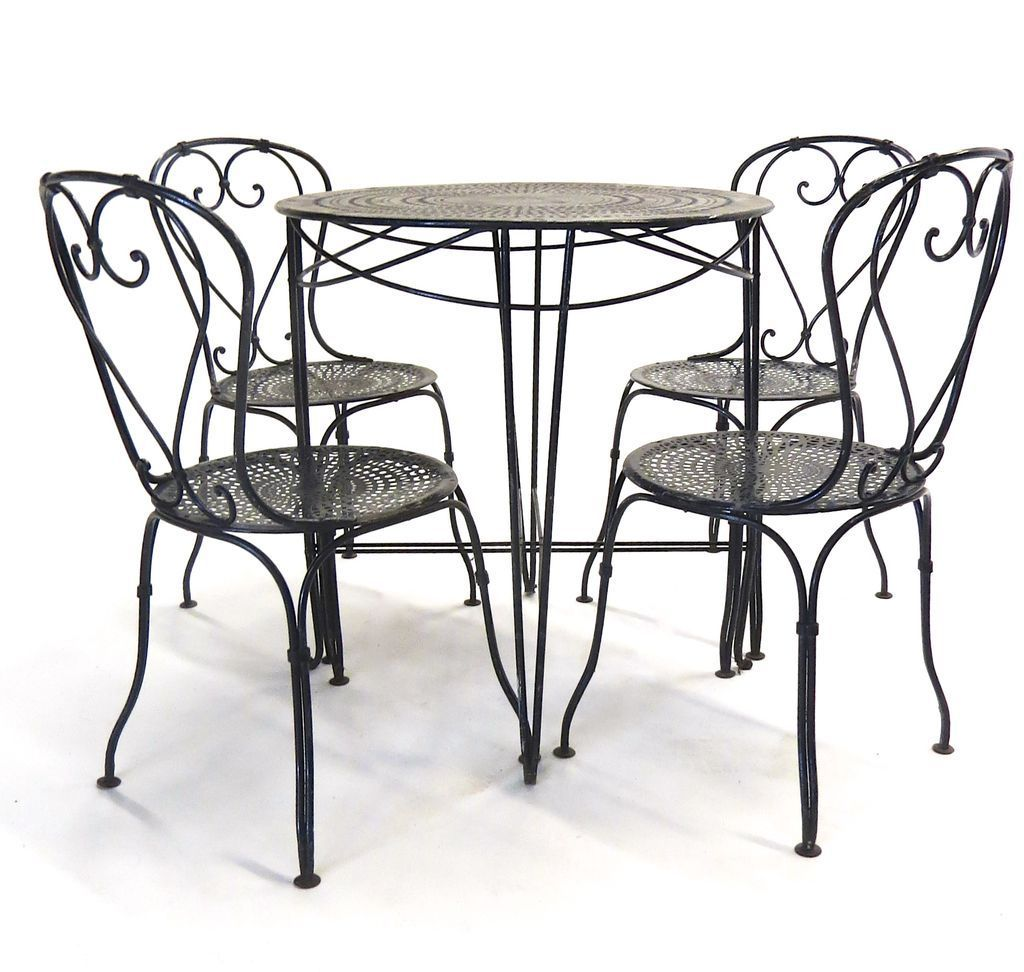 parisian table and chairs indoor chaise french bistro from blacktulip on ruby lane