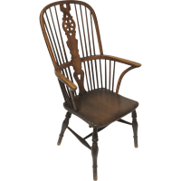English High Back Windsor Arm Chair from blacktulip on