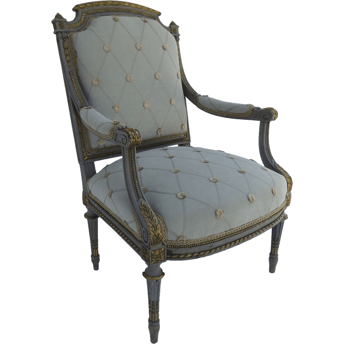 french louis chair discount camping chairs xvi style painted arm with ormolu