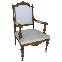 Carved Antique Eastlake Arm Chair from blacktulip on Ruby Lane