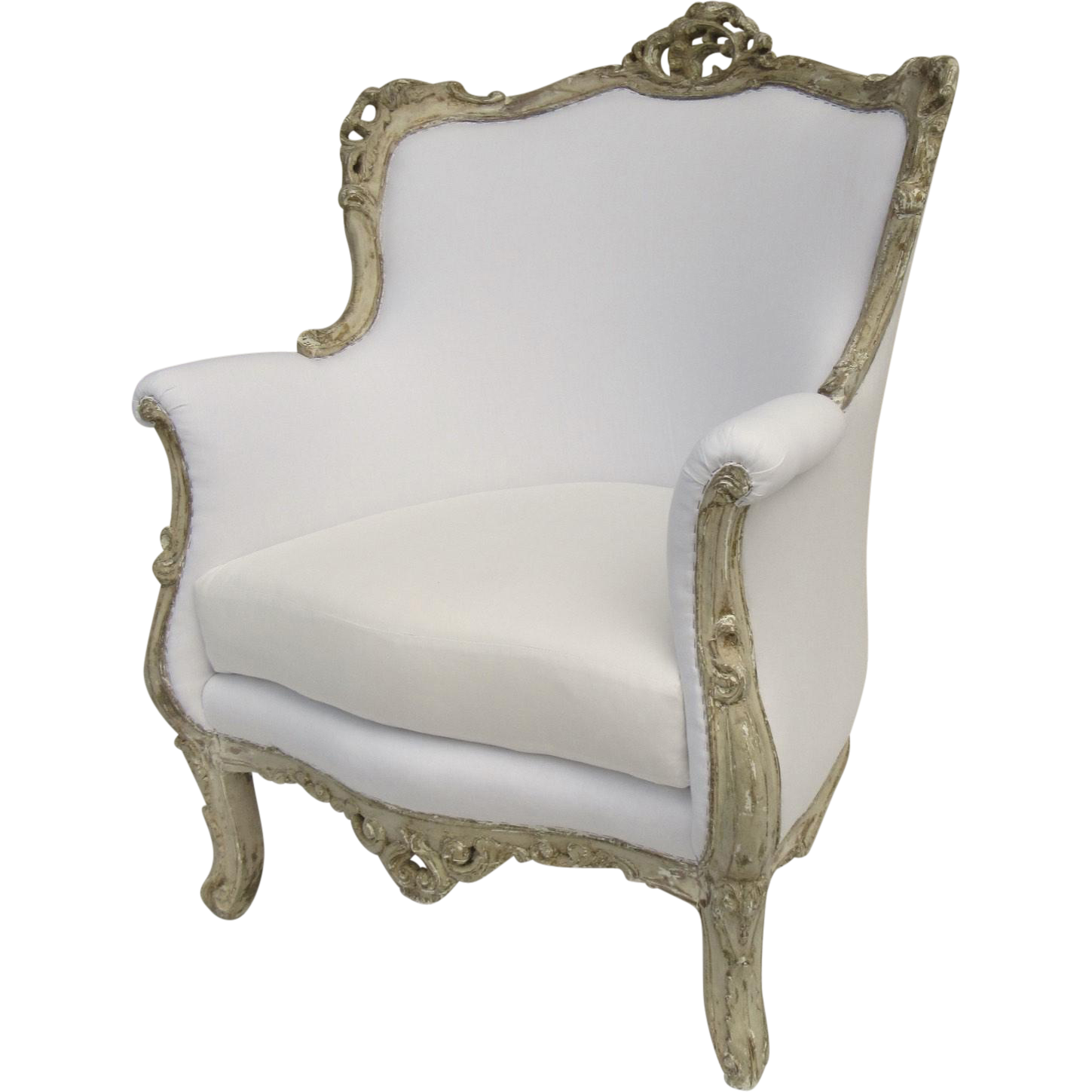 vintage arm chair video game chairs target rococo painted finish from