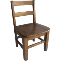 Vintage Oak Child's School Chair Sturdy : Black Tulip ...