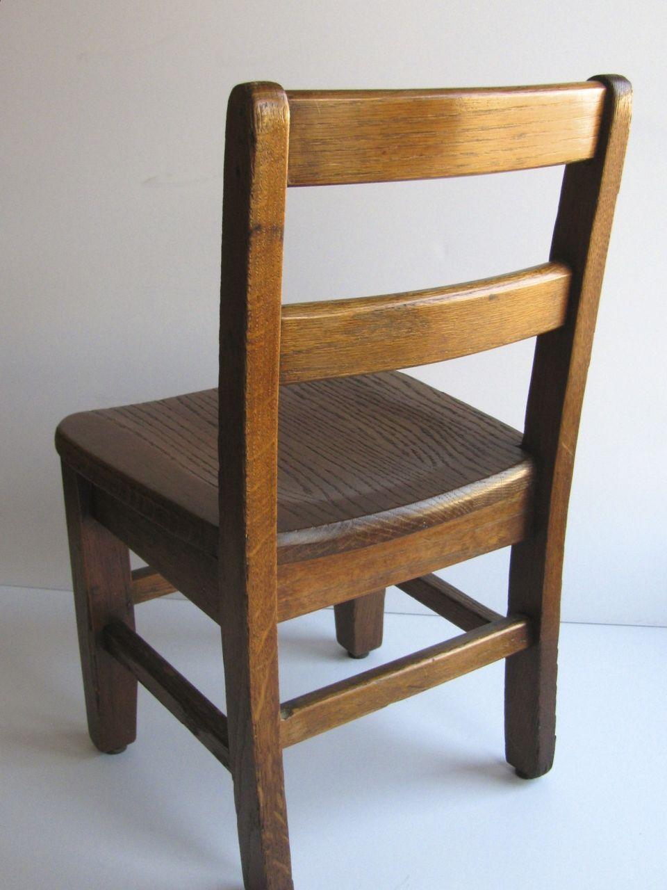 Vintage Oak Childs School Chair Sturdy from blacktulip on