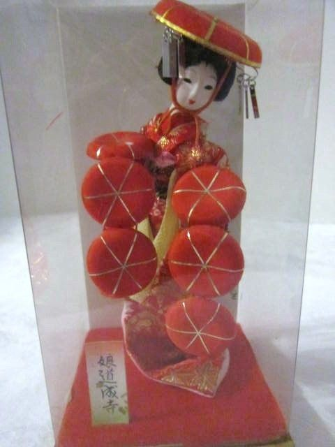 Vintage Small Geisha Doll with Many Fans from somethingwonderful on Ruby Lane