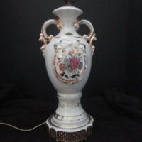 Vintage Hand Painted Ceramic Lamp Base from ...