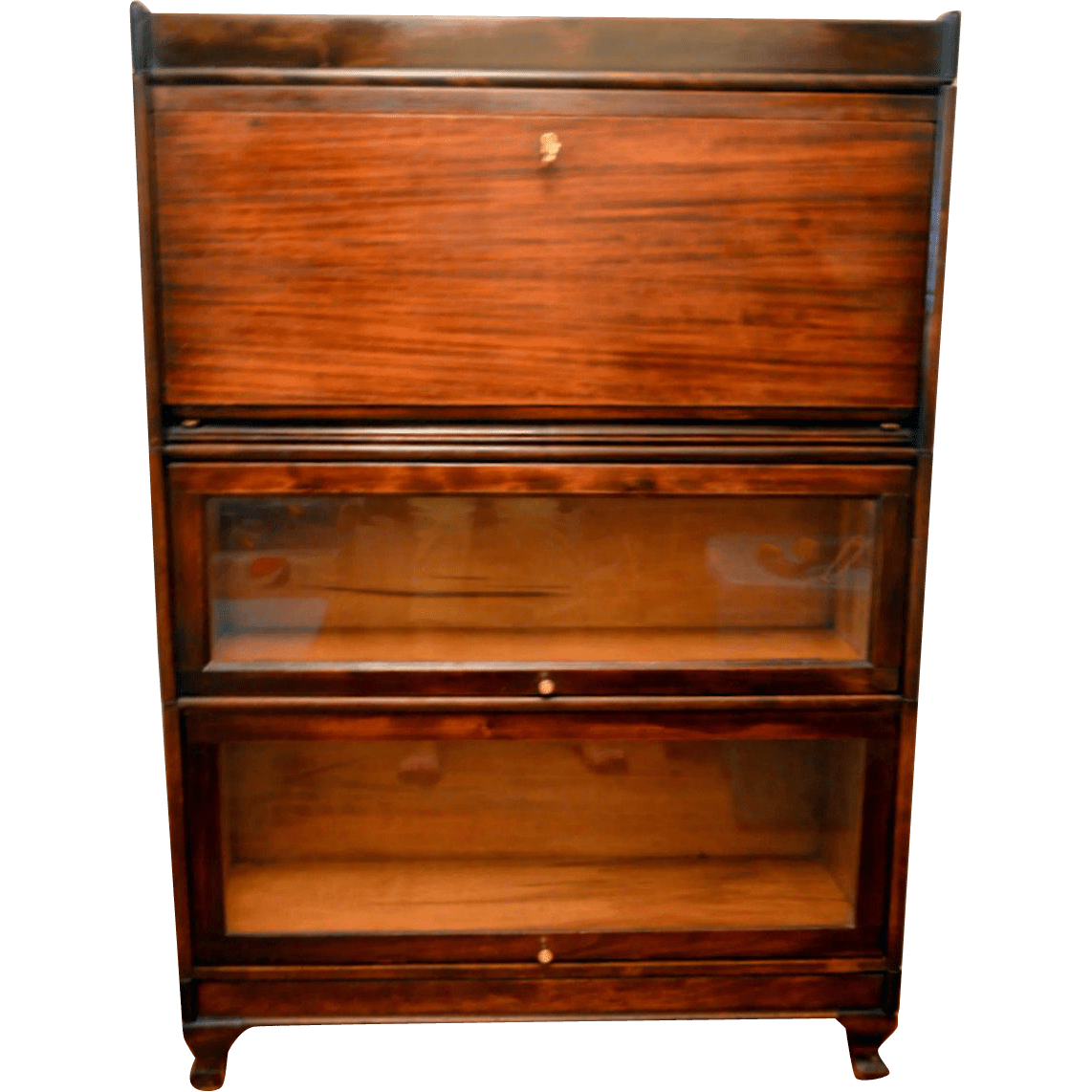 Barrister Bookcase with Desk Mahogany from frontporch on