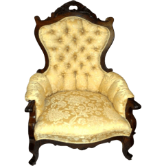 Press Back Chair Covers For Legs Rosewood Victorian Parlor Arm Sold   Ruby Lane