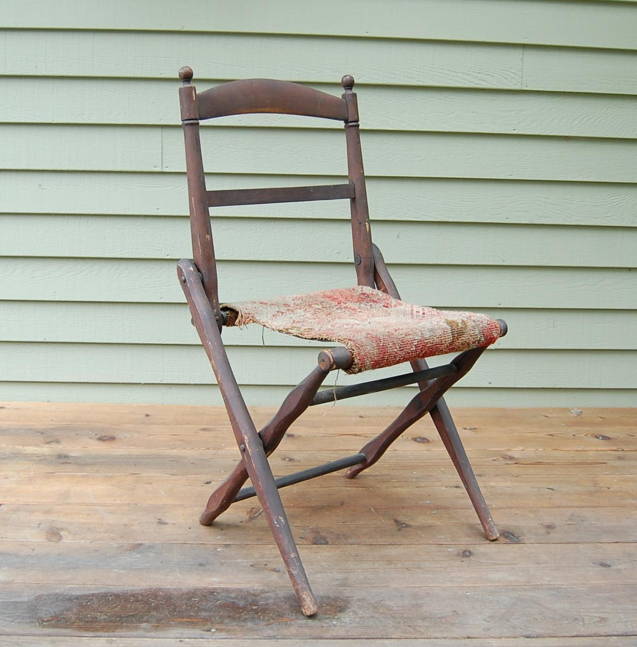 wood camp chair pc gaming chairs antique folding wooden civil war era from