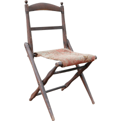 Antique Folding Chair Graco High 3 In 1 Wooden Camp Civil War Era From