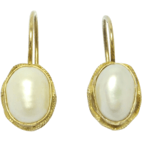 Vintage Vermeil Freshwater Pearl Leverback Earrings SOLD