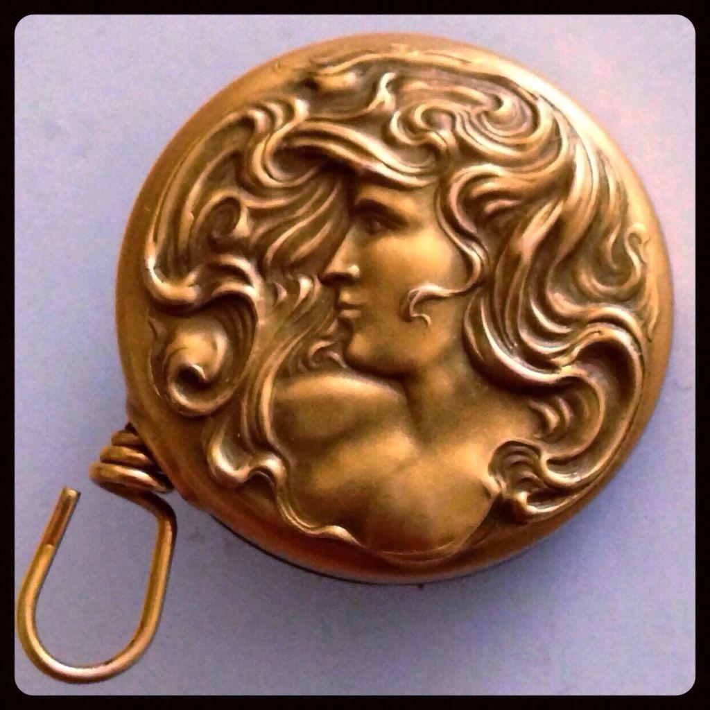 Art Nouveau Woman with Flowing Hair