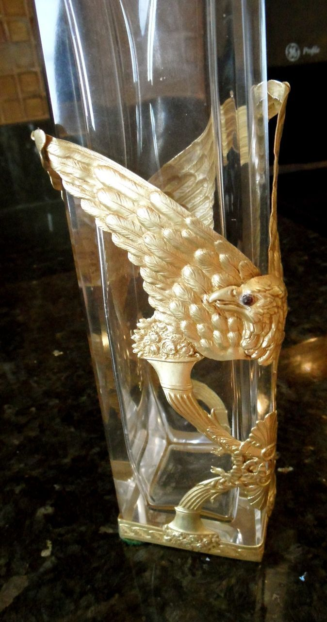 Antique Baccarat Crystal Bottle Bronze Mounts As An Eagle From Aliceaantiques On Ruby Lane