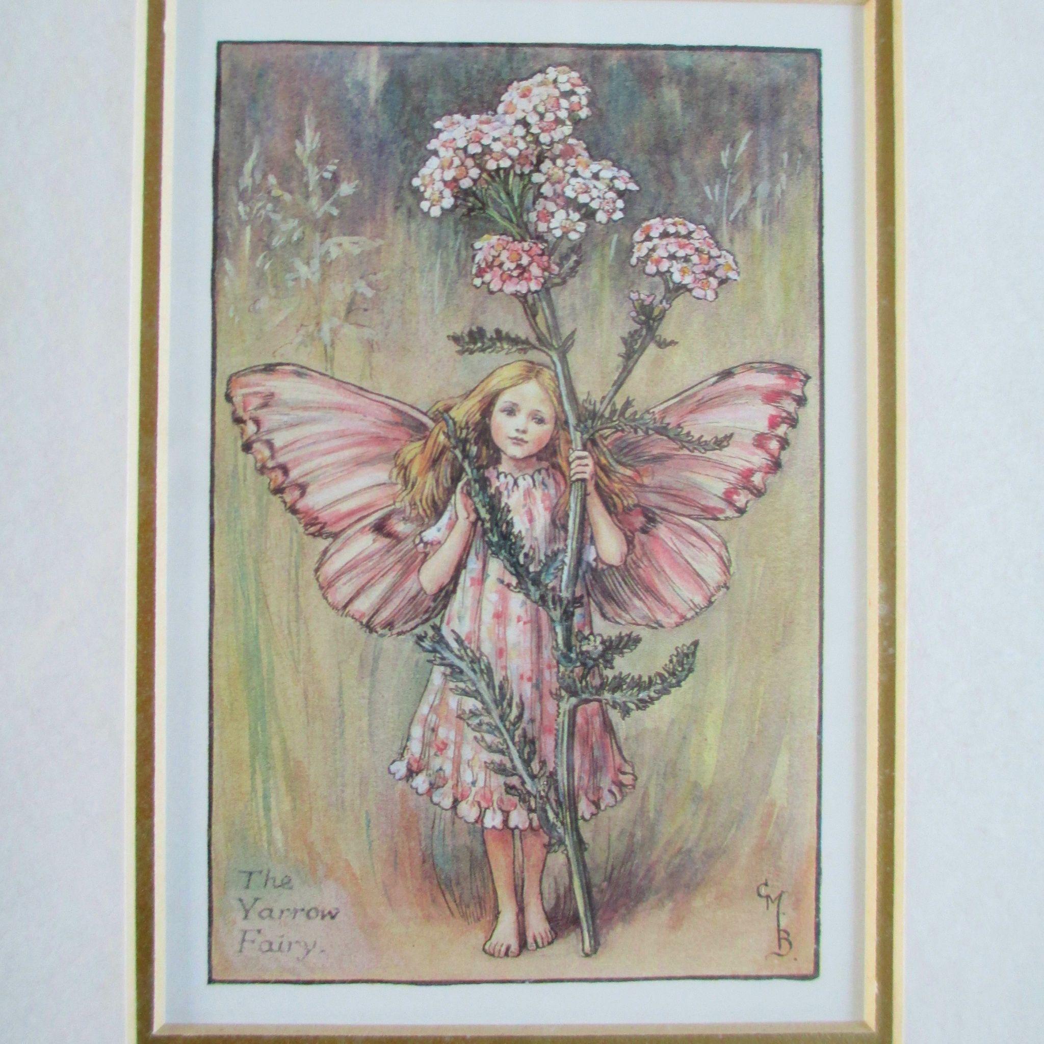 3 Framed Cmb Cicely Mary Barker Vintage Fairy