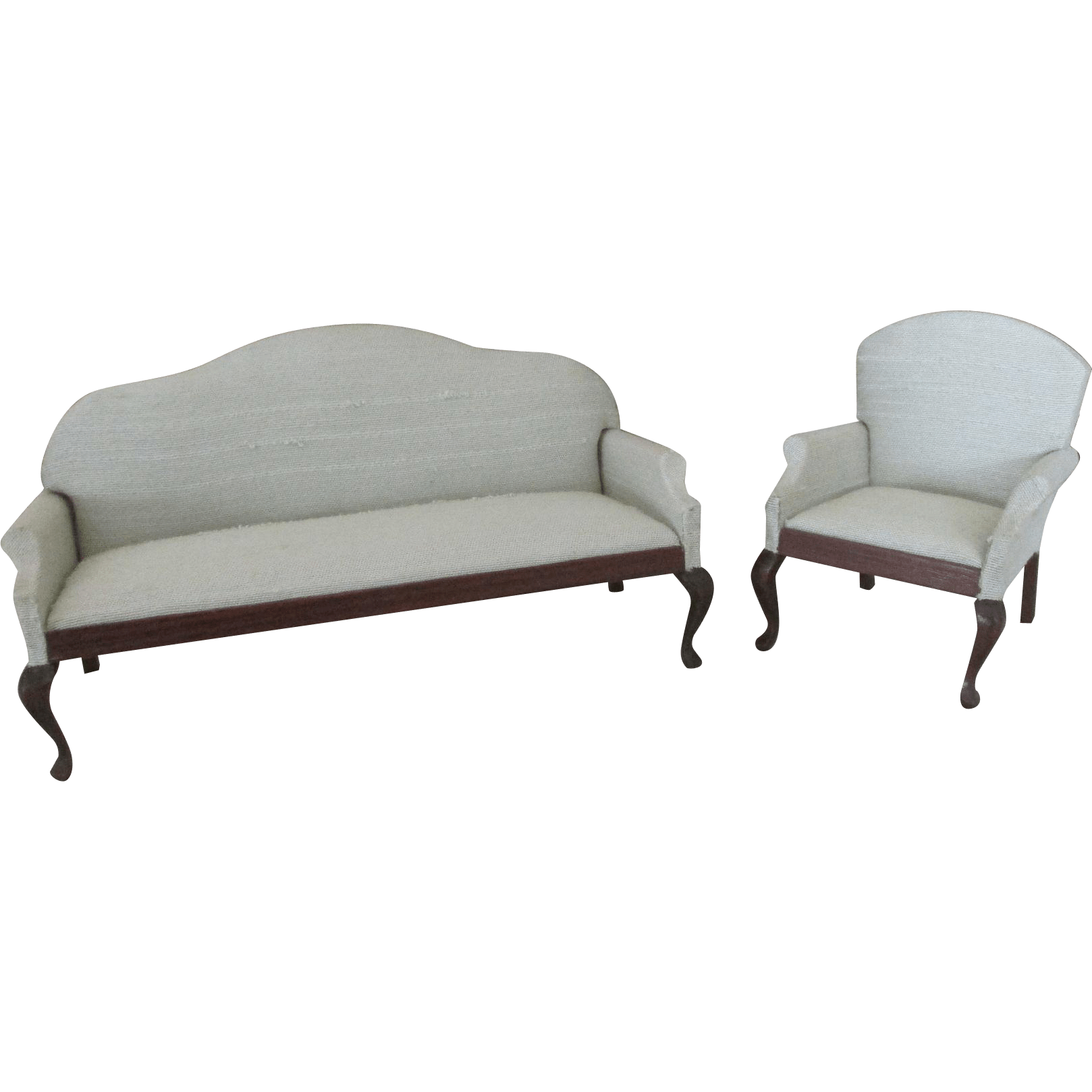 miniature sofa reclining sectional leather vintage sonia messer dollhouse and chair