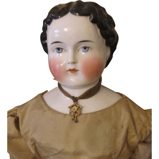 Pretty Antique China Head Doll from nostalgicimages on Ruby Lane