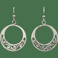 Sterling Filigree Hoop Dangle Earrings from raretreasures ...