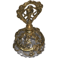 Ornate Vintage Vanity Filigree Floral Design Glass Perfume
