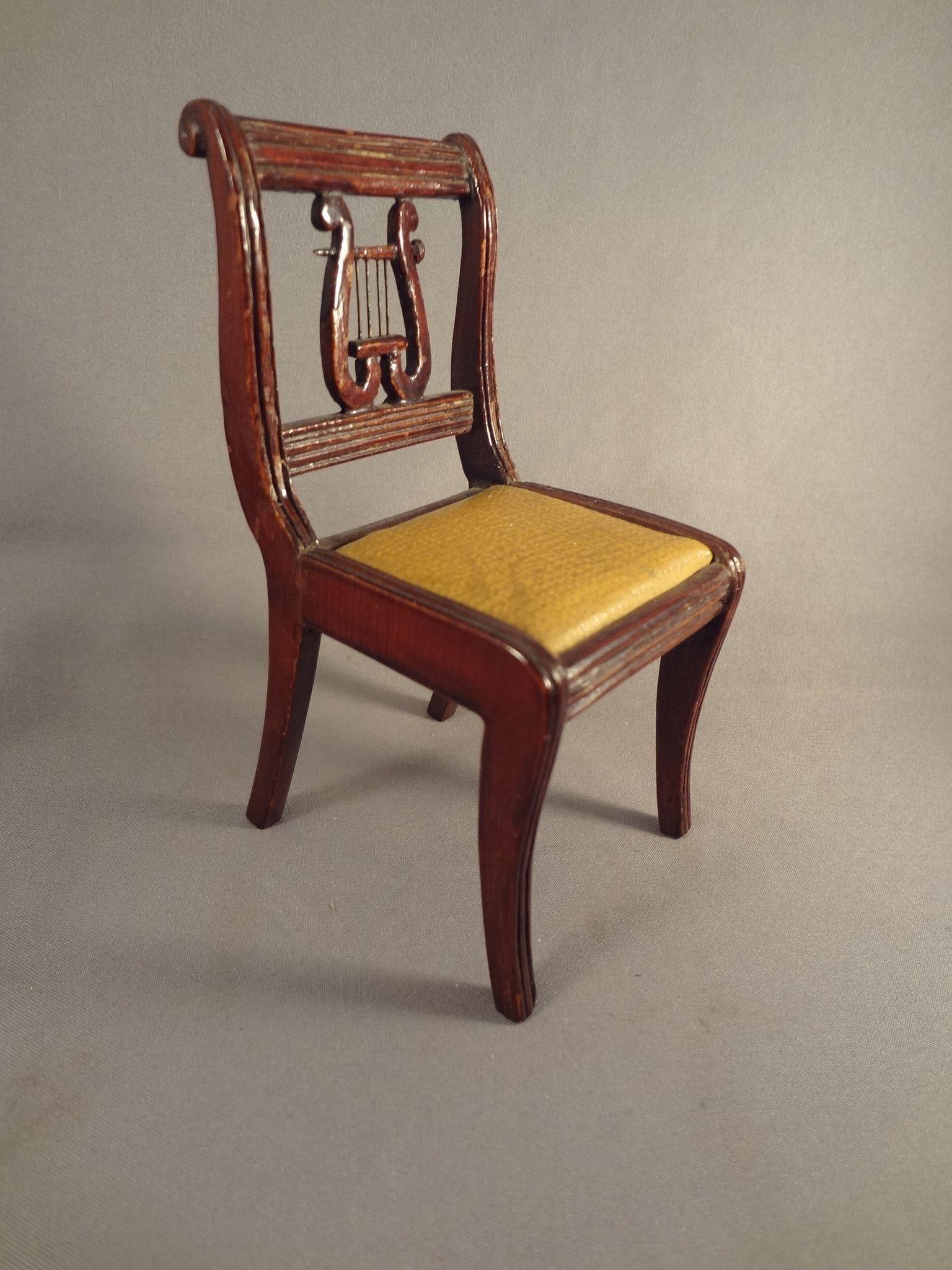 Lyre Back Chairs Large Doll House Scale Lyre Back Chair For Music Room From