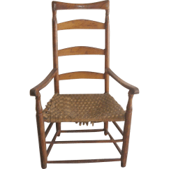 Ladder Back Chair Antique Leather Restoration 1790 39s Robbia Antiques Ruby Lane