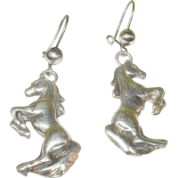 Vintage Sterling Silver Horse Earrings from robbiaantique ...
