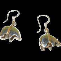 Vintage Sterling Silver Polar Bear Earrings from ...