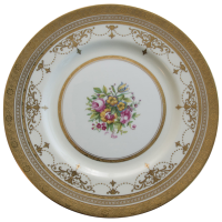 Minton Gold Encrusted Dinner Plate with Bands, Swags and ...