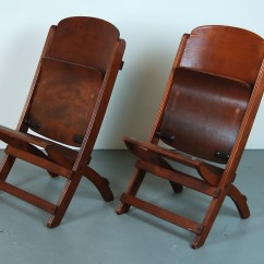 Nice Folding Chairs Wooden For Dining Room Pair Vintage Theater Seats From