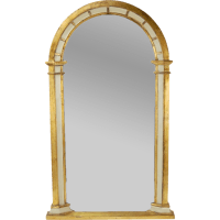 Vintage Giltwood Panel Arched Wall Mirror from ...