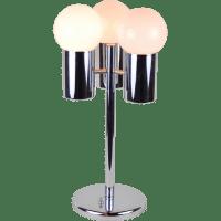 Vintage Mid-century Modern Chrome & White Bubble Lamp 3 ...