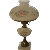 Hold for Anne-Vintage Hand Painted Roses Parlor Lamp from ...