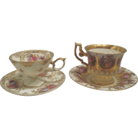 Pair Tea Cups and Saucers SOLD on Ruby Lane