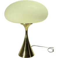 1960s Laurel Mushroom Table Lamp w/ Brass Base from ...