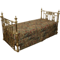 Antique Brass Bed Victorian c. 1890 SOLD on Ruby Lane