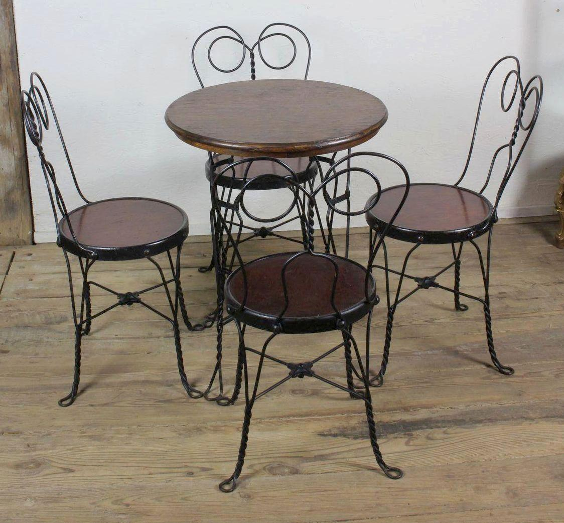 Ice Cream Table And Chairs Ice Cream Parlor Table And Four Chairs C 1910 From