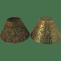 Pair of Vintage Pressed Metal Lamp Shades SOLD on Ruby Lane