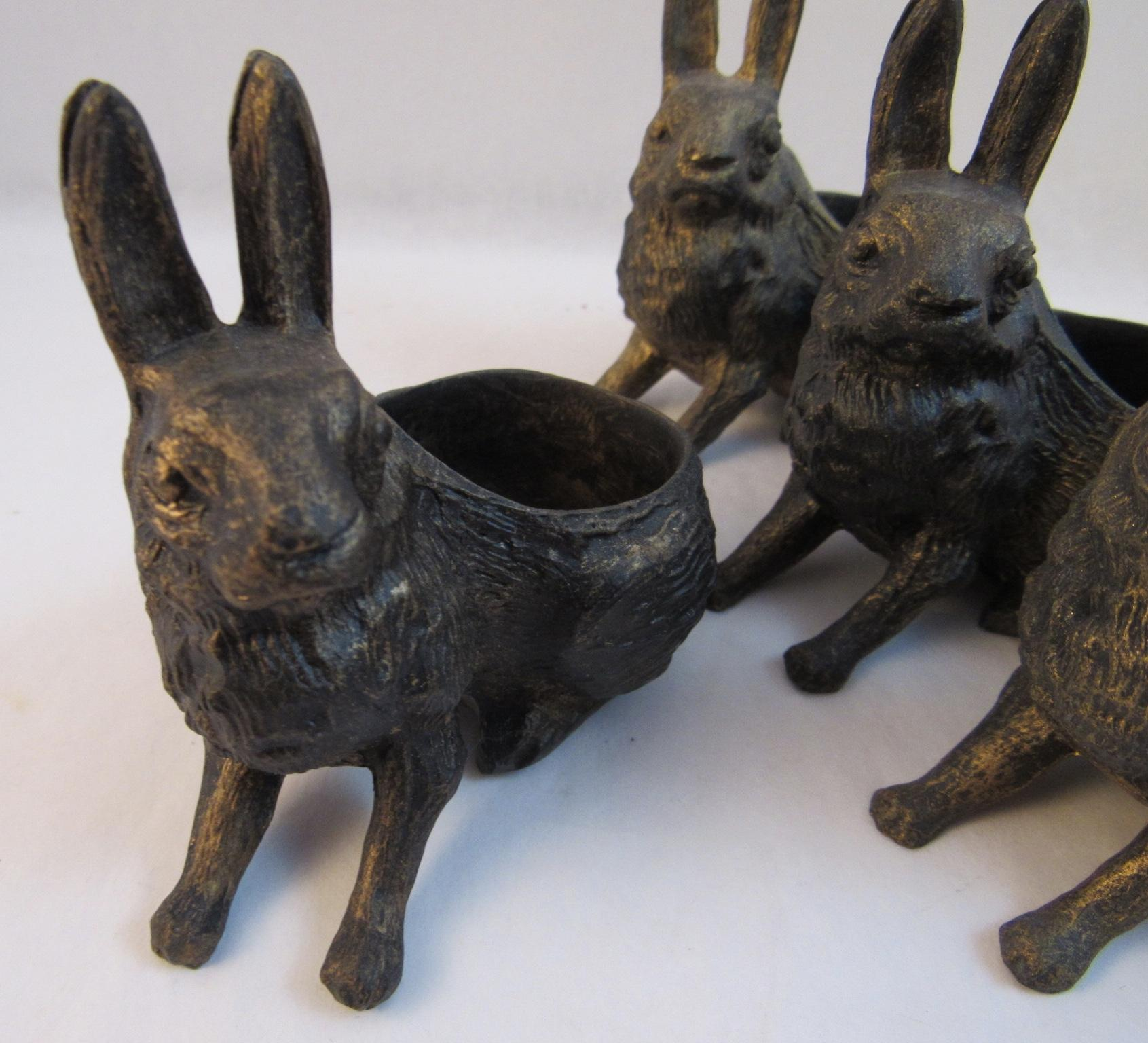 Set of Easter Bunny Place Card Holders from ssmooreantiques on Ruby Lane