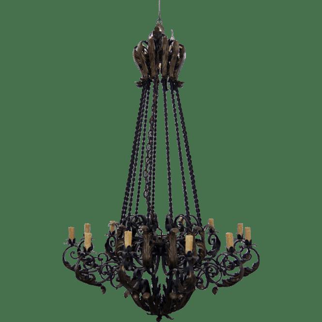 7683 Wrought Iron Mediterranean Chandelier