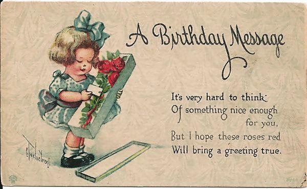 C Twelvetrees Birthday Postcard Antique Ables Ruby Lane