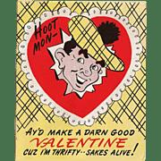 Vintage Scottie Dog Valentine Valentines Day Card USA