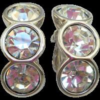 Swarovski Rhinestone Clip Earrings from antiqueali on Ruby ...
