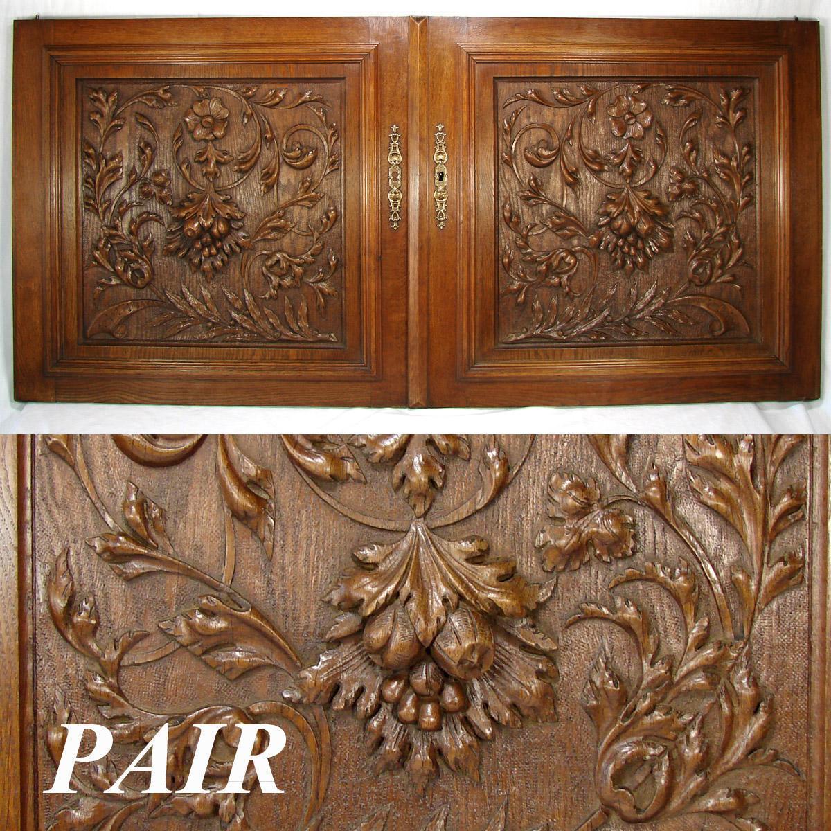 LG Antique Victorian Era 25 French Black Forest Style Oak