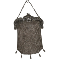 Sterling Silver Mesh Chainmail Purse Chatelaine loop from ...
