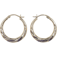 Vintage 10k Gold Hoop Earrings SOLD on Ruby Lane