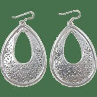 Vintage Sterling Silver BIG Earrings SOLD | Ruby Lane