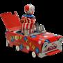 Wakasuto Friction Tin Bump Car With Pop Up Clown From