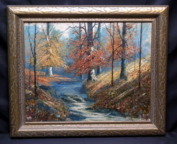 Exceptional Indiana Landscape Painting By William A Eyden