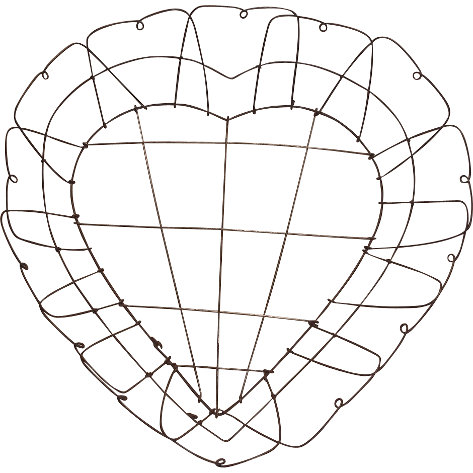 Victorian Heart Shaped Wire Basket : Bonnie Boswell