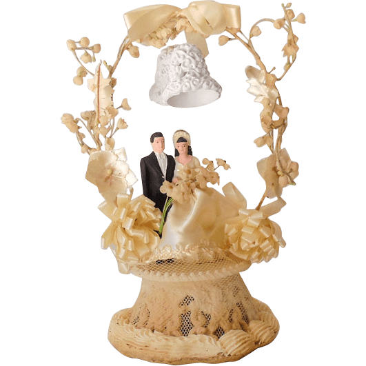 Fancy 1948 Wedding Cake Topper Bride and Groom from