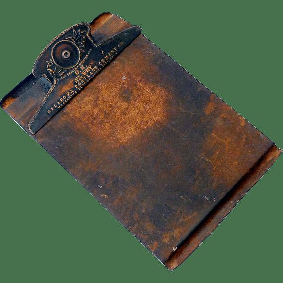 Vintage Bronze Metal Advertising Clipboard SOLD Ruby Lane