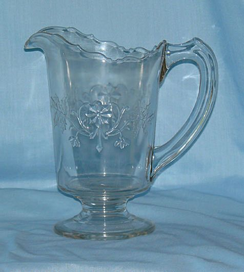 Faceted Flower EAPG Pitcher from carolynstt on Ruby Lane